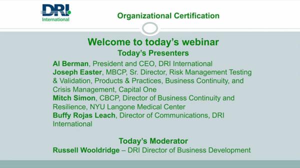 Organizational Certification Image