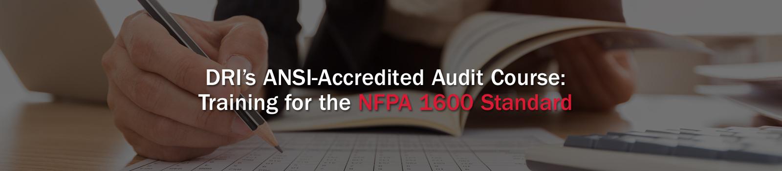 DRI NFPA_1600 Banner Image
