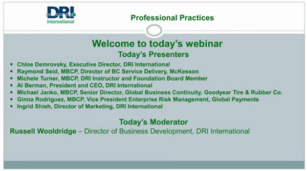 DRI Professional Practice Image